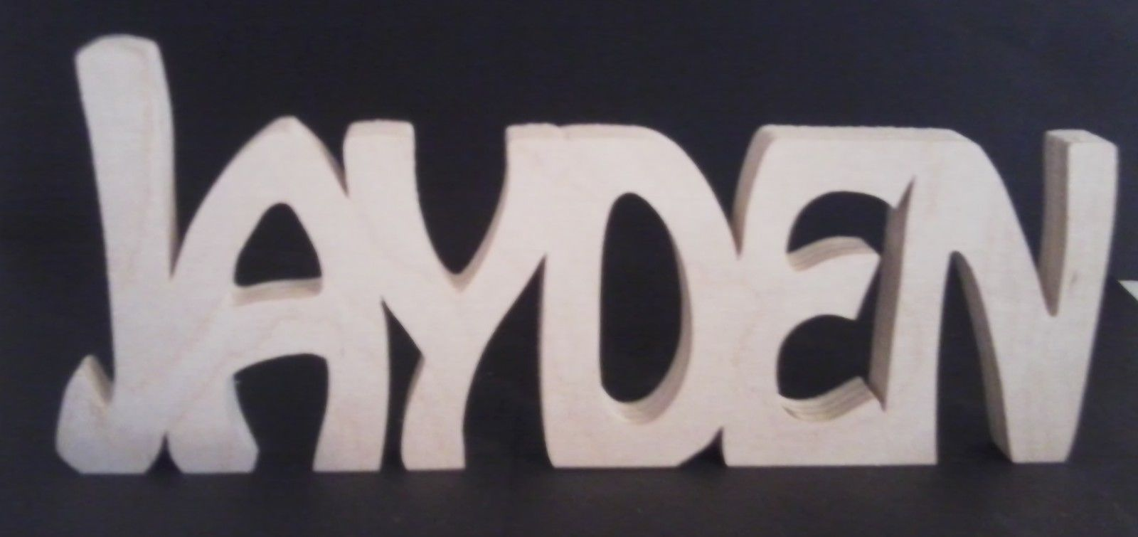 PERSONALISED WOODEN NAMES LETTERS FREESTANDING GIFT HOME